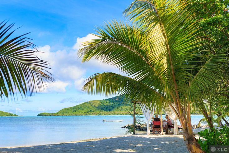 Perfect white sand beach at #NavatuStars Resort #YasawaIsands #Fiji #beachlife #honeymoon