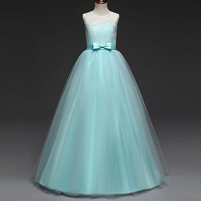 Iwemek Madchen Kinder Mit Kleider Blumenmadchenkleider Hochzeitskleid Maxikleid Festlich Brautju Blumen Madchen Kleider Blumenmadchen Kleid Prinzessin Hochzeit
