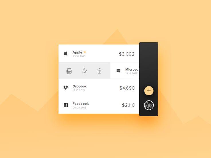 Invoice App Ui mobile daily ui