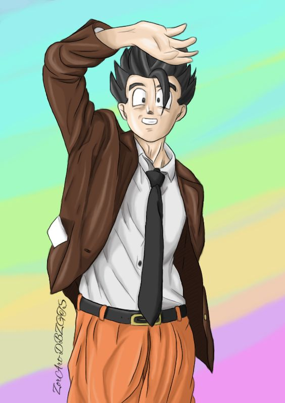 Casual Gohan in Suit by ZorArt-DBZGTS