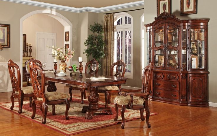Victorian Dining Room | Gordon Victorian Formal Dining Table Set - - Furniture Stores Los ...