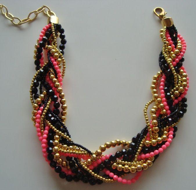 Collar trenzado | Graciela Alvarez Accesorios | Feria Central