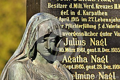 Grave in the central cementery of Vienna, Austria