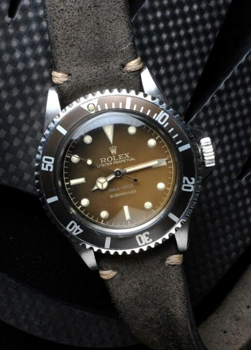 Rolex-Submariner / Leather Strap