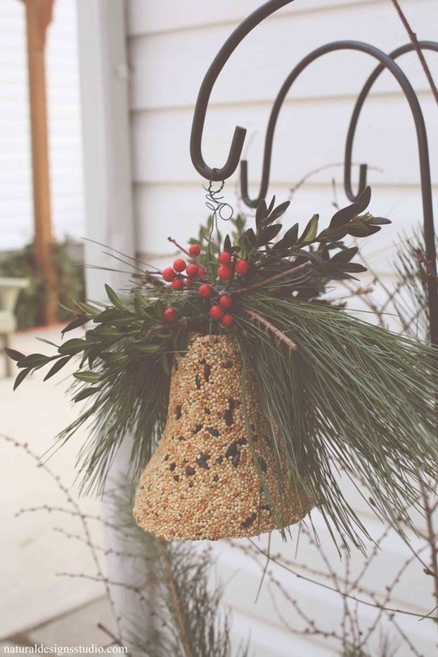 what to hang from shepherds hooks for christmas | ... hang it from a black rod iron shepherd s hook for a classic