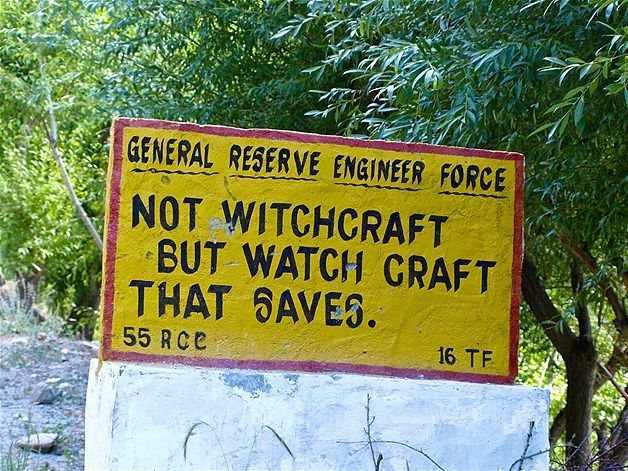 AMUSING ROAD SIGNS IN INDIA
