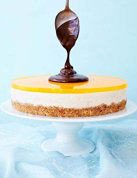 Our impressive three layered Orange Cheesecake Recipe is the perfect dessert for the whole family this Mother's Day. Serve it with our shiny Dark Chocolate Sauce to guarantee you really impress.
