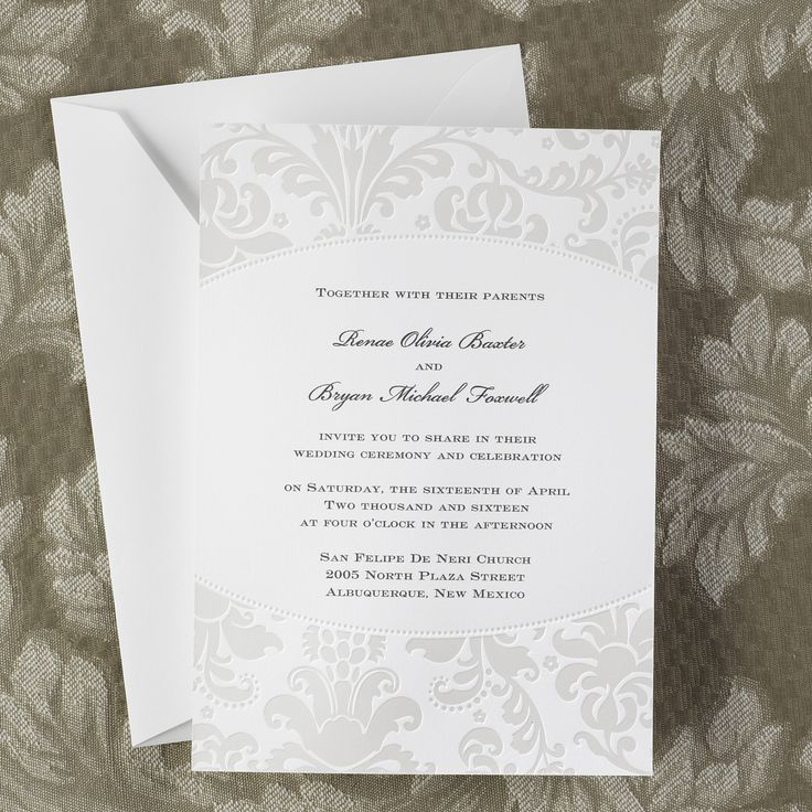 wedding invitation rsvp what does m mean%0A Pearlized Filigree Border Invitation  Wedding Invitations  Wedding Invites   Wedding Invitation Ideas  View a Proof Online
