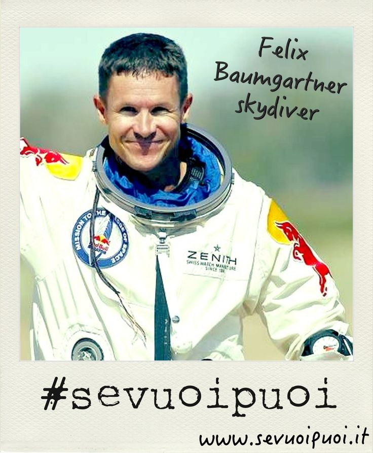 Felix Baumgartner, paracadutista e base jumper austriaco, si è lanciato da quota 38969,4 m arrivando ad una velocità massima di 1357,64 km/h, superando la barriera del suono e stabilendo il record di velocità massima raggiunta da un uomo in caduta libera. #sevuoipuoi superare le barriere  #felixbaumgartner #paracadutista #record