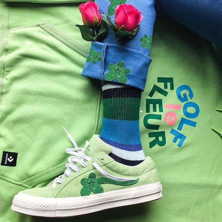 pinterest // @reflxctor TYLER THE CREATOR X CONVERSE GREEN COLOR COLLABORATION | RELEASE : 18 JANUARY | GOLF LE FLEUR | GOLF LE FLEUR HOODIE GREEN #tylerthecreator #golflefleur #converse #green
