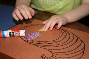kids cornucopia craft