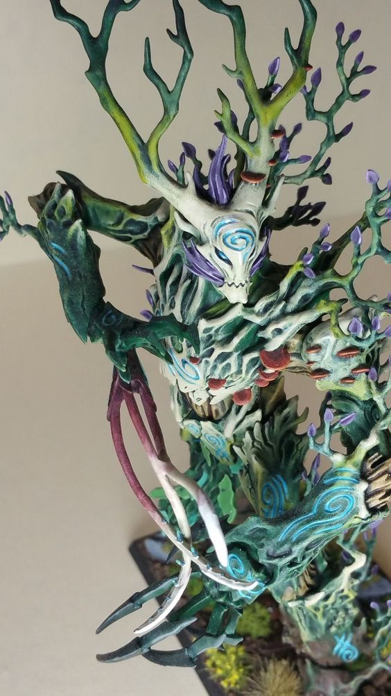 Warhammer Age of Sigmar Wood Elves / Sylvaneth Treeman Pro Painted | eBay: