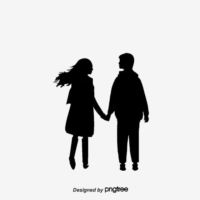 Couple Silhouette Lovers Silhouette Vector Holding Hands Png Transparent Clipart Image And Psd File For Free Download Silhouette Vector Black Cat Silhouette Couple Silhouette
