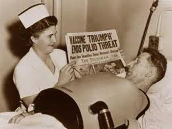 Polio peaked in the 1950's and some 33,000 Americans died or became crippled. Most of the victims were children. The virus works by infecting and destroying the brain stem.