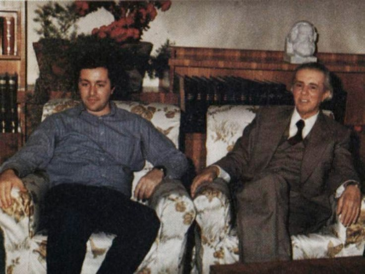 Enver Hoxha with one of his sons.