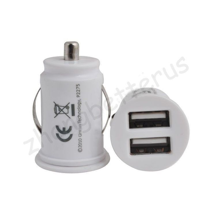 Car Charger Adaptor Mini Bullet Dual USB 2-Port For iPhone 4 5 C S 6 Plus   #iPhone #Cables #Adapters
