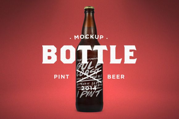Check out Pint Beer Mock-Up by Palm Street Creative on Creative Market!