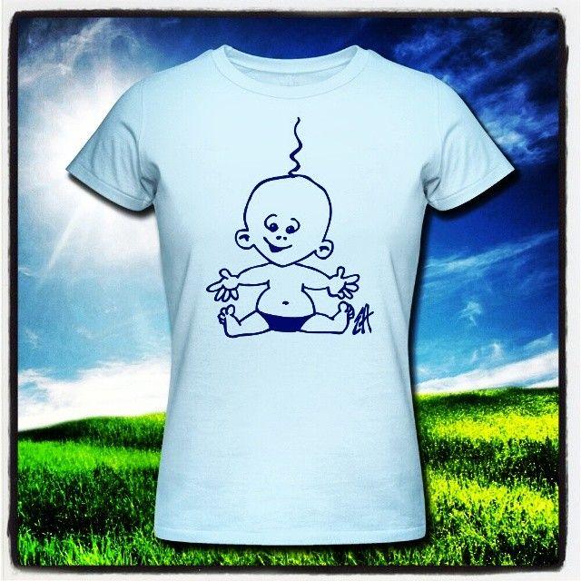 http://www.cardvibes.com/en/catalog/category/babies  Baby T-Shirt. www.Tekenaartje.nl #baby #geboorte #birth #kindje #infant #mother #moeder #pregnant #pregnancy #zwanger #zwangerschap #verwachting #Spreadshirt  #tekening #drawing  #sketch  #tekenen #tekening #shirtdesign #shirt #design #lineart