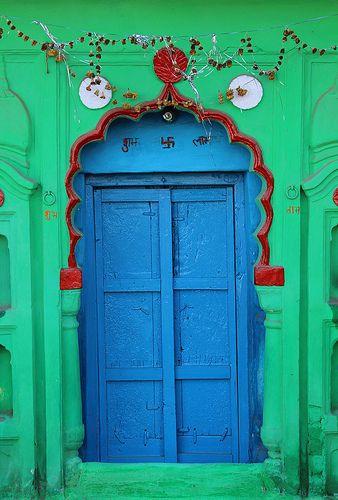 Colourful #Door in Orchha #India