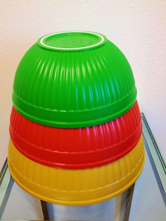 Vintage Nordic Ware Nesting Bowl Set of 3 Prep by vintagesouthwest