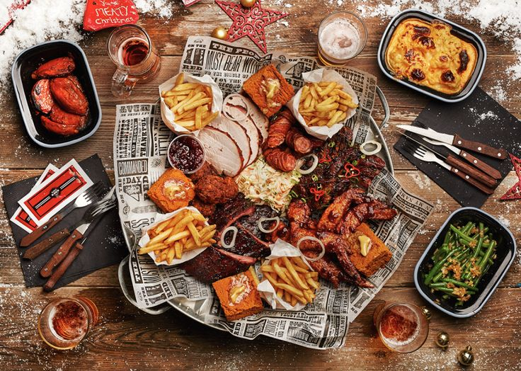 Behold, the Red's True Barbecue Christmas Feast
