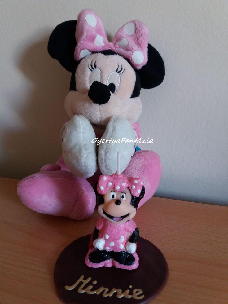 Minnie egér gyertya. Minnie mouse candle.