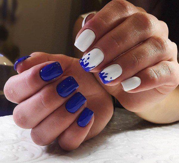 гель лак фото дизайн на коротких ногтях 2019 3
