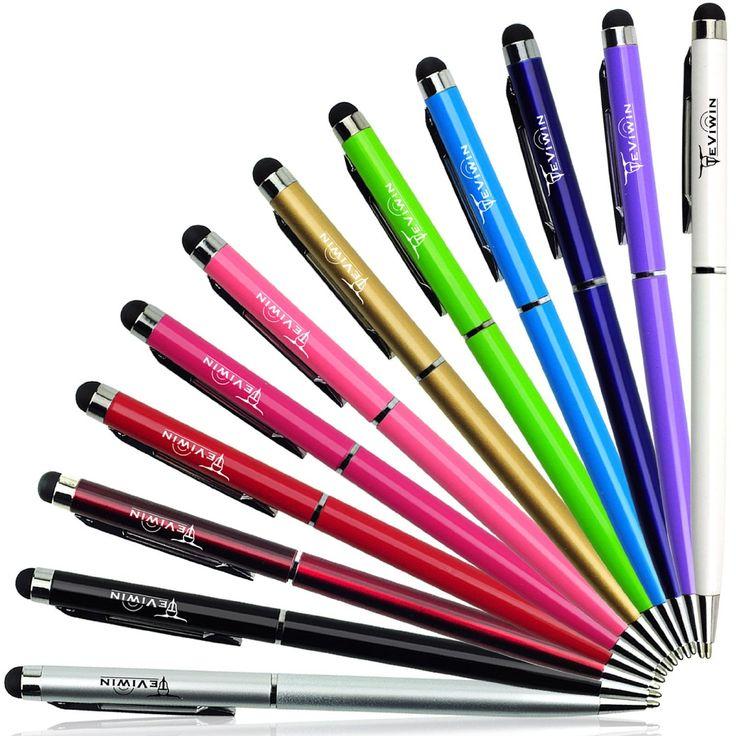 Teviwin(TM)(B04) 12 Pcs-2 in 1 Slim Capacitive Stylus Pen