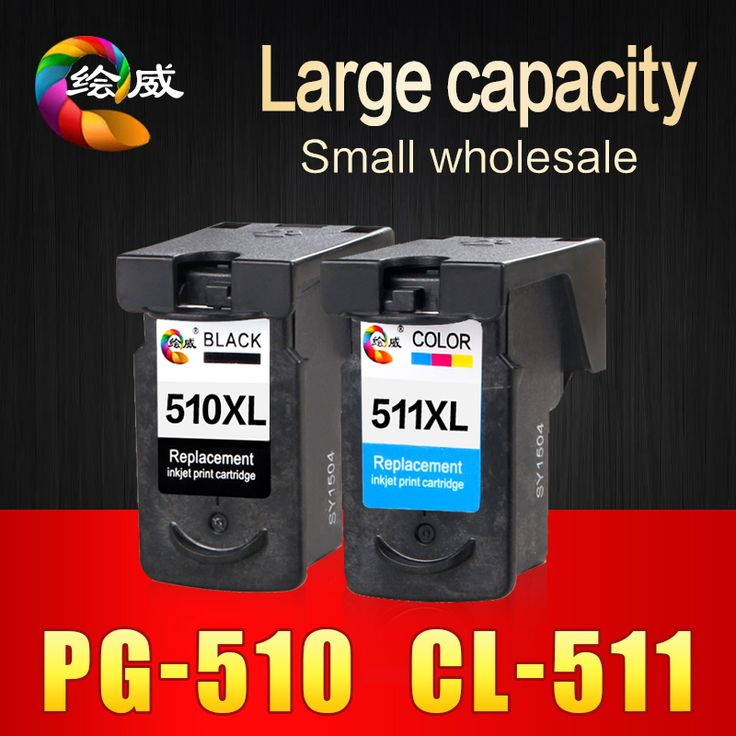 2 stks pg510 cl511 cartridge voor canon pg 510 cl 511 voor Pixma MP240 MP250 MP260 MP270 MP280 MP480 MP490 IP2700 printers