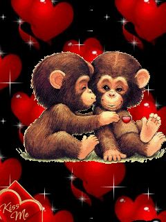 QUIT MONKEYING AROUND AND HAVE AN AWESOME VALENTINES DAY ....!!!!!!!!   HOPE YOUR DAY IS FILLED WITH WONDERFUL ... FUN..... SURPRISES .....  FROM FAMILY ... PIN FRIENDS ....  AND IF YOU HAVE  A HUBBY OR BOYFRIEND OR WHOMEVER !!!  ENJOY THE DAY .....  ENJOY EVERYDAY !!!  LIFE IS GOOD !!! Oooooo. : c )