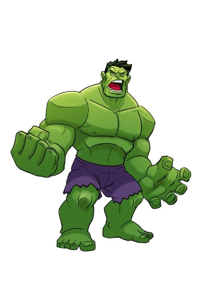 3 Ways To Draw The Hulk Realistic And Cartoon Style In 2020 Cartoon Styles Hulk Art Avengers Cartoon