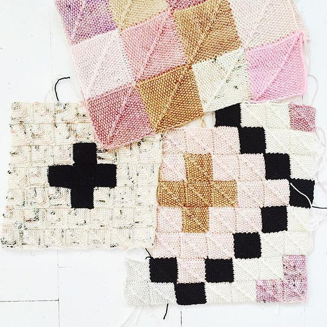 Three variations of #sockyarnblanket 😀 a lot of creative possibilities to different patterns and colors. Love it! - - - #yarn #yarnlove #sockyarn #knit #knitted #knitting #knittingismyyoga #knittedblanket #madelinetoshyarn #anzulaluxuryfibers #anzulasquishy #koigu #koiguyarn #koigukpm #merinowool #sticka #stickat #stickning #stickning2016 #sockgarn #stickadfilt #sockgarnsfilt #pastels #pastelcolors