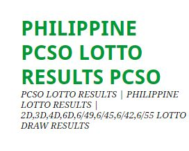 Keno draw results philippines