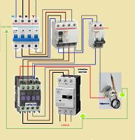 Esquemas eléctricos: contactor guardamotor con termostato