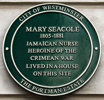 Mary Seacole Plaque © Copyright  L Reddie, Profile: A pioneering nurse and heroine of the Crimean war. Plaque location: 141 George Street, London, W1H 5LB Plaque Inscription: 'Jamaican Nurse Heroine of the Crimean war lived in a house on this site.'