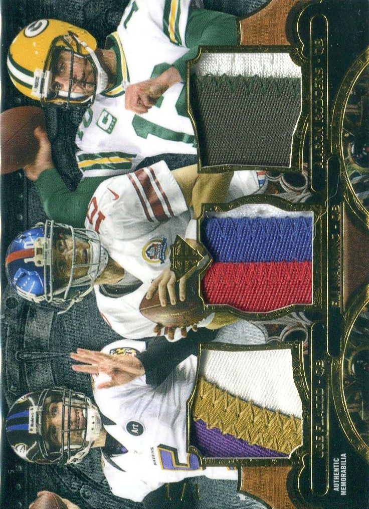 2013 Triple Threads Patch Combo Onyx Eli Manning Joe Flacco Aaron Rodgers 1/1 - For sale by JamminJDCards at Collector Revolution. Jammin JD Sports Cards - Giants Packers Ravens