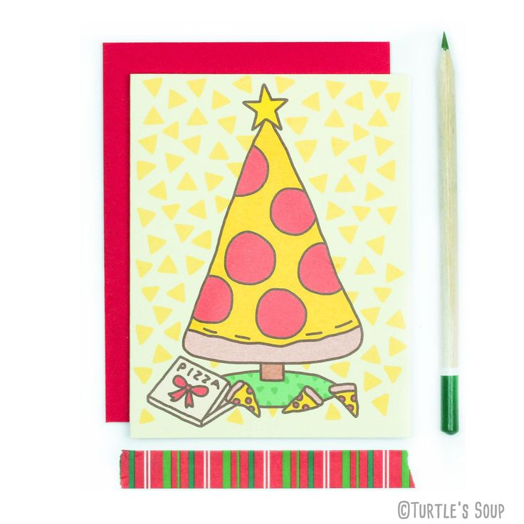 Funny Christmas Card, Pizza Christmas Card, Pizza Holiday Card, Pizza Greeting Card, Christmas Card. Pizza Lover Gift, Punny Christmas