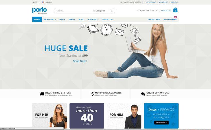 Porto WordPress e-Ticaret Teması | WP Kurulum