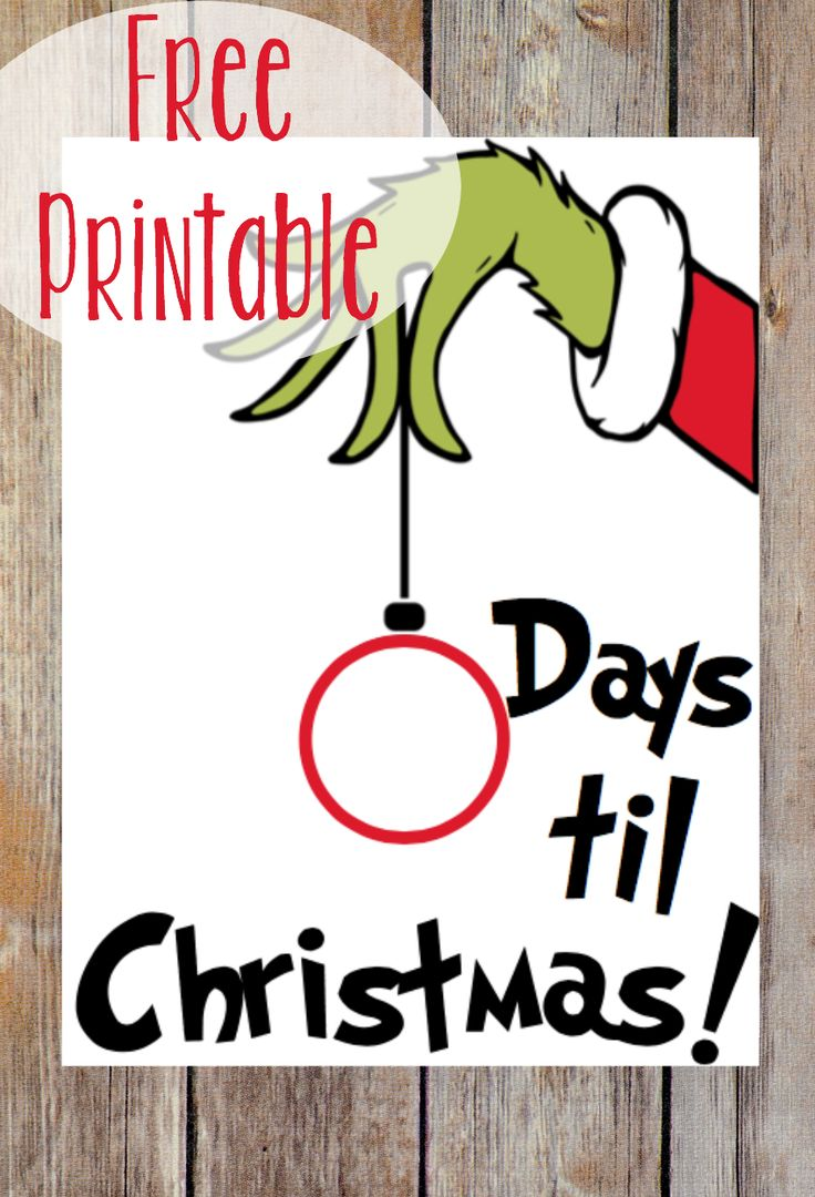 Use this FREE Grinch printable to help your family count down to Christmas! Just stick the sheet in a picture frame and use a dry-erase marker on the glass! ,  Alex – Three Little Ferns – Family Lifestyle Blog