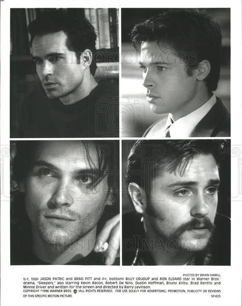1996 Press Photo Jason Patric Actor Brad Pitt Billy Crudup Ron Eldard  | Historic Images