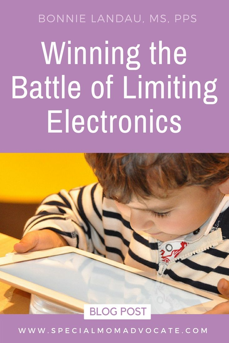Winning The Battle Of Limiting Electronics Special Mom Advocate Special Education Law Special Needs Mom Education Advocacy