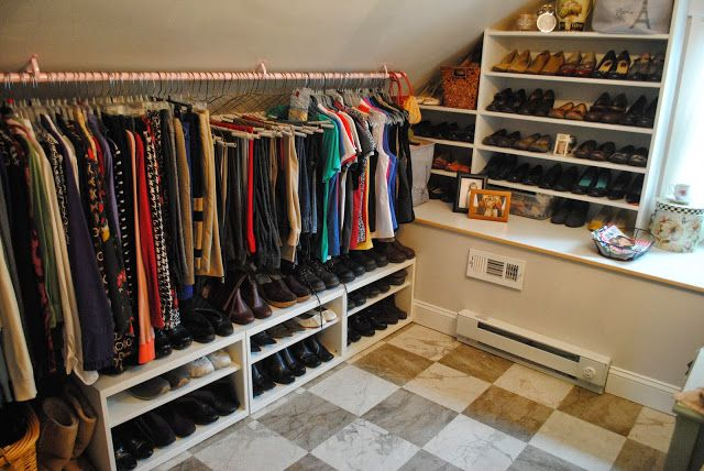 One Day at a Time: master bedroom closet organization