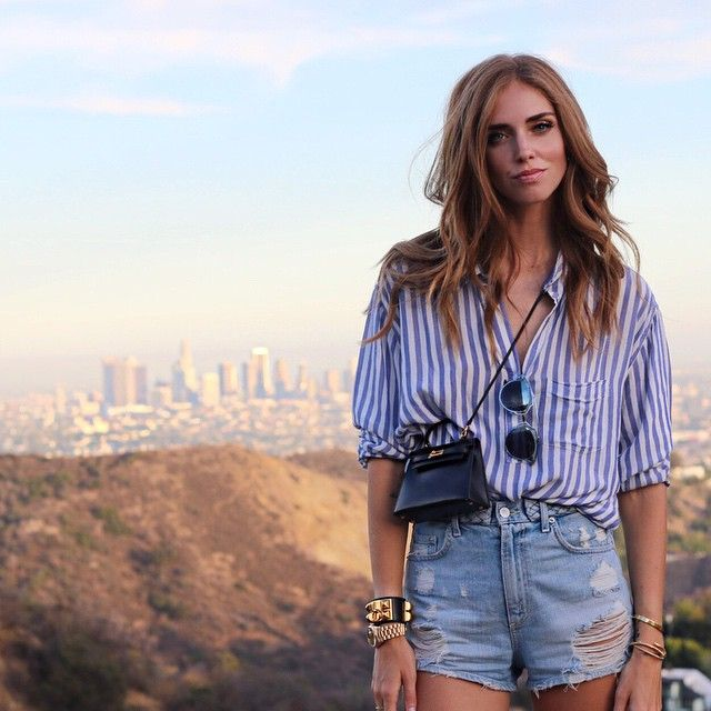 #ChiaraFerragni Chiara Ferragni: Me, Downtown LA in the back and my new mini Hermes Kelly bag from @fashionphile ✌️ #TheBlondeSaladGoesToHollywood