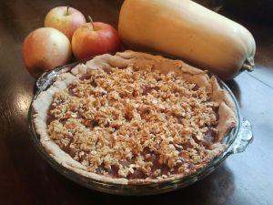Healthy Apple Pie- crust made w white whole wheat flour & banana
