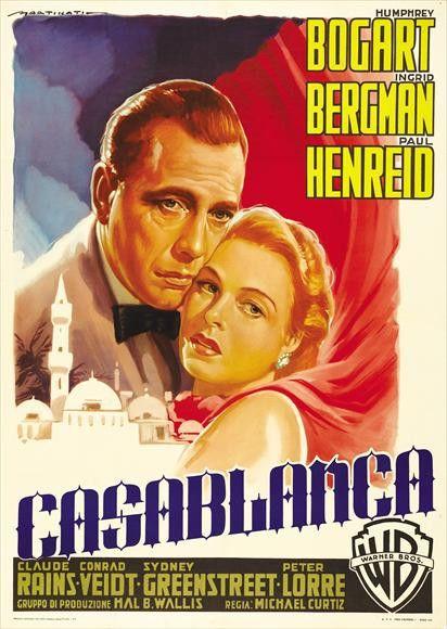 CAST: Humphrey Bogart, Ingrid Bergman, Paul Henreid, Claude Rains, Peter Lorre, Sydney Greenstreet, Conrad Veidt, S.Z. Sakall, Dooley Wilson, Marcel Dalio, John Qualen, Helmut Dantine, Madeleine LeBea