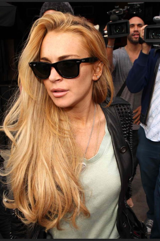 Lindsay Lohan. Another example of human vile poison in American pop culture