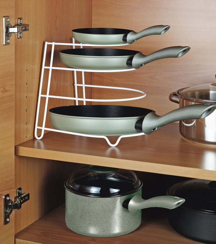 Frying Pan Organiser Storage Rack: Amazon.co.uk: Kitchen & Home