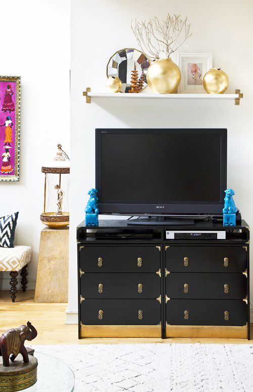 Campaign Furniture as TV stand....CHECK: Campaign Dresser, Furniture Inspiration, Furniture Hack, Ikea Hacks, Hacked Campaign, Campaign Inspiration