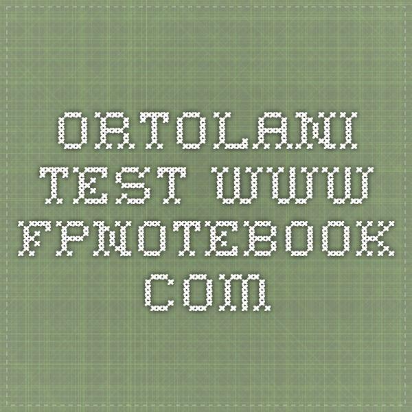 Ortolani Test     www.fpnotebook.com