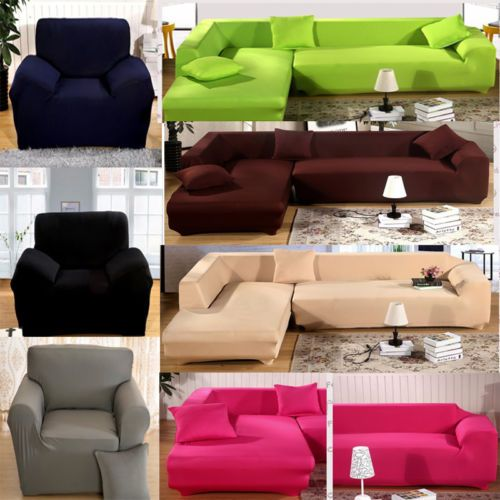 L Shape Stretch Elastic Fabric Sofa Cover Pet Dog Sectional /Corner Couch Covers in Home & Garden, Furniture, Slipcovers | eBay